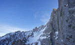 Voie Lesueur, free ascent by Steck and Griffith on Petit Dru