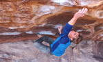 Verhoeven and Saurwein bouldering at Hueco
