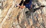 Cristian D'Anzul climbs Vizija at Misja Pec