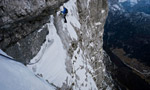 Loska Stena, new route by David Lama and Peter Ortner in Slovenia
