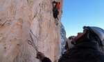 Via Cembridge, first winter ascent by Giupponi, Larcher and Leoni