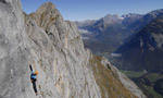 Herbstzeitlose first ascent by Ines Papert and Stephan Siegrist on Mittaghörnli, Switzerland