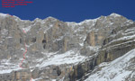 Via Fratelli e Cortelli, new ice climb  in the Brenta Dolomites by Franchini brothers