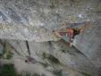 Sarah Seeger climbs Chrisu 8c at Rottachberg