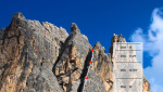 Via Leila, new rock climb on Cason de Formin, Dolomites