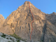 Forest Gump, new rock climb by Krajnc and Lindic up Rocchetta Alta, Dolomites