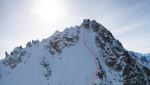 Chardonnet Migot Spur, first ski descent by Bruchez and Jornet Burgada
