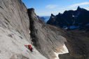 Greenland, new rock climb La chute de rein