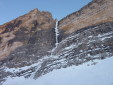 Psyco Killer, the great icefall on Tofana di Mezzo, Dolomites