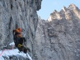 Difficult winter ascent of Trollveggen Troll Wall in Norway