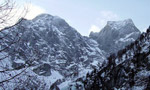 Piz Badile 'Cassin' and 'British' solo winter ascents by Valseschini and Libera