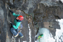Ines Papert sends Senja ice climb in Norway