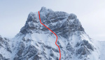 Grand Muveran West Face steep skiing action in Switzerland