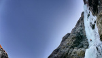La cascata Kjerrskredkvelven e la salita di Matthias Scherer e Tanja Schmitt