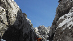 Grigna Settentrionale, probabile first ski descent by Giacomo Rovida and Ramon Chiodi
