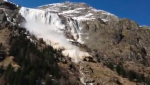 Avalanche at Saint Christophe en Oisans in France