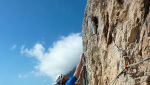 Luce di Primo Mattino, Larcher makes first free ascent on Piccolo Dain
