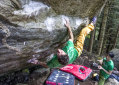 Stefano Ghisolfi sends 9a at Tetto di Sarre, Italy