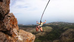 Shaan-Kaya, rope jumping in Crimea
