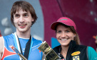 Anna Stöhr and Dmitrii Sharafutdinov win Bouldering World Cup 2013