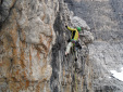 Alpinists who make the difference: via Stenghel at Torre d'Ambiez by Ivo Ferrari