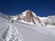 Monte Bianco: Nord della Tour Ronde, in giornata da Venezia