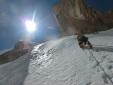 Nuova via di alpinisti olandesi sulla parete NE del Great Wall of China in Kirghizistan