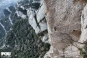 Montserrat, Eneko and Iker Pou climb Tarragó, the route that no longer exists
