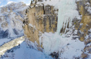 Zweite Geige, new ice climb in the Dolomites by Leichtfried and Purner