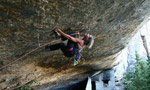Aleksandra Taistra climbing in France and Spain