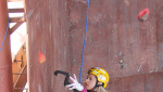 Maxim Tomilov and Maria Tolokonina win Ice Climbing World Cup 2014