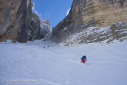 Tofana di Dentro, NNW Face ski descent in the Dolomites