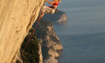 Rock climbing at Muzzerone, Italy