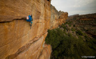 Rocklands trad climbing for James Pearson and Caroline Ciavaldini