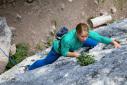 Climbing at Malga Ciapela