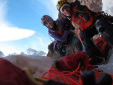 Anna Torretta and Cecilia Buil: ice climbing on Marmolejo in Chile