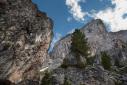 Climbing at Würzjoch - Passo delle Erbe in the Dolomites
