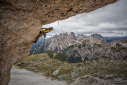 Dave MacLeod climbing Project Fear on Cima Ovest di Lavaredo, Dolomites