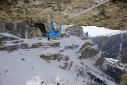 Florian Riegler frees Albatros in Vallunga, Dolomites