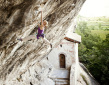 Angela Eiter and the Zauberfee climb at Arco