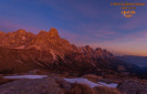 Dolomites Pale di San Martino at sunset