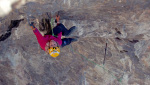 Angelika Rainer drytooling Kamasutra above Iseo