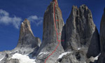 Free South Africa, first free route up the Central Tower of Paine for Favresse, Villanueva and Ditto