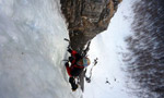 Exceptional ice climbing conditions in Ossola, Switzerland