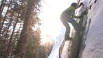 Stolby raduno boulder invernale in Siberia