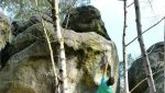 Niccolò Ceria 8B flash a Fontainebleau