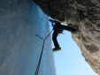 A Dolomite DOC climb reinterpreted in winter
