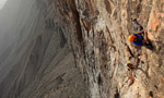 Oman Jebel Misht new routes for Hansjörg Auer and Much Mayr
