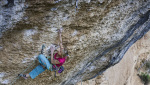 Angela Eiter and Anak Verhoeven climb 9a at Margalef in Spain