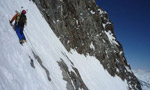 Morteratsch East, Bernina first ascent by Maspes, Panizza and Turk